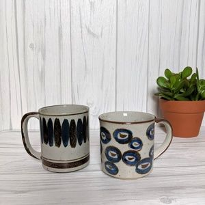 Vintage Mismatches Set of Two Vintage Coffee Mugs